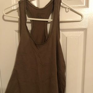 AMERICAN EAGLE OLIVE GREEN TANK TOP